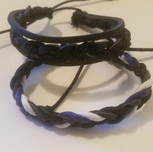 Jewelry - Leather Cuff bracelets!